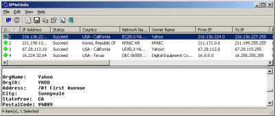 IPNetInfo 1.95 screenshot