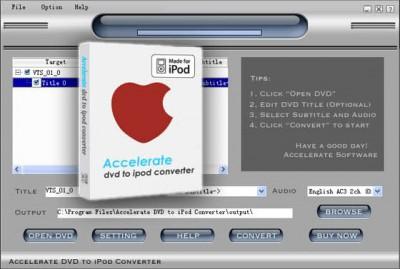 iPod Convert DVD to iPod 2014.416 screenshot
