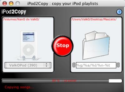 iPod2Copy 2.2.2 screenshot