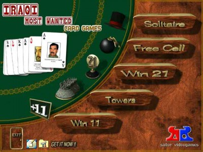 Iraqi Most Wanted, Card Games 1.0 screenshot