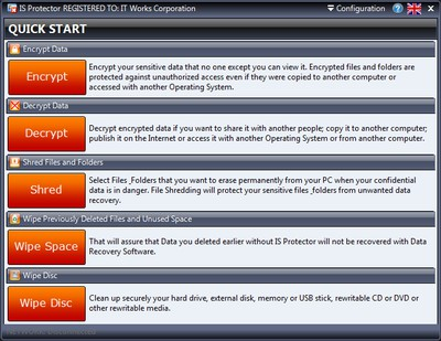 IS Protector 2.8.1 screenshot
