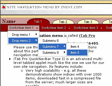 iTab Pro QuickNavBar 2.30 screenshot