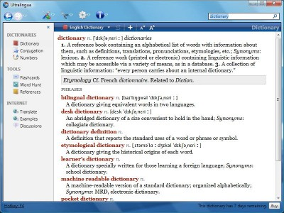 Italian-English Collins Pro Dictionary for Windows 7.1 screenshot