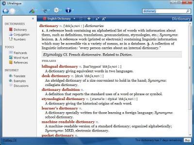 Italian-English Dictionary by Ultralingua for Wind 7.1 screenshot