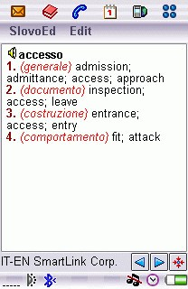 Italian-English Ext. Dictionary for UIQ 2.0 screenshot