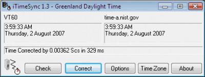 iTimeSync 1.502 screenshot