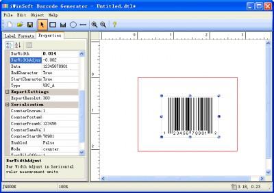 iWinSoft Barcode Generator 1.2.4 screenshot