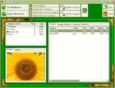 Izbushka Wallpaper Organizer 2.04 screenshot