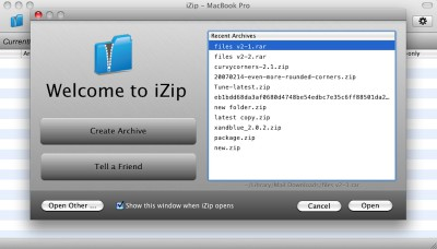 iZip 3.5 screenshot