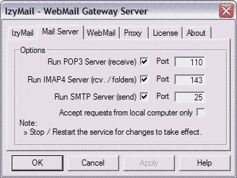IzyMail Online 1.5 screenshot