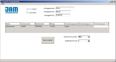 JamDTA ActiveX Control 4.1.2 screenshot