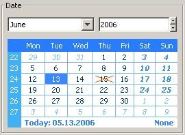 Java Calendar Component 4.1 screenshot