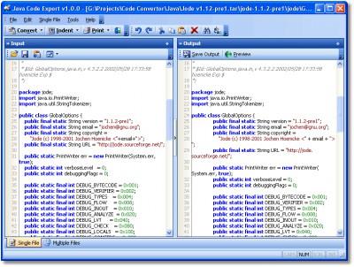 Java Code Export 1.0.0 screenshot