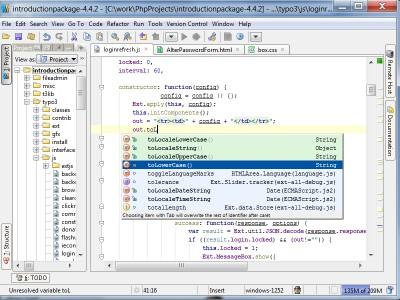 JavaScript IDE WebStorm 6.0 screenshot