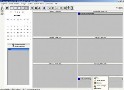 jCalendar 1.1 screenshot