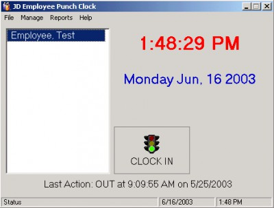 JD Punch Clock 2.63 screenshot