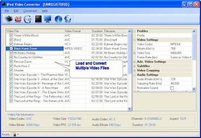 Jesterware iPod Video Converter 3.10 screenshot