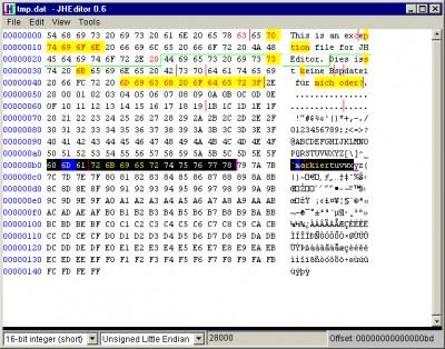 JHEditor 0.7 screenshot
