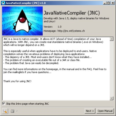 JNC - JavaNativeCompiler 1.1 screenshot