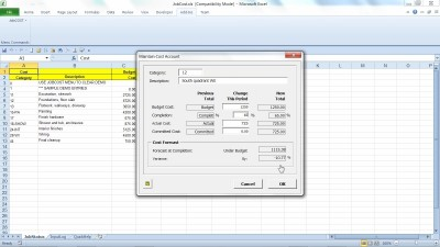 JobCOST Controller for Excel 11.1 screenshot