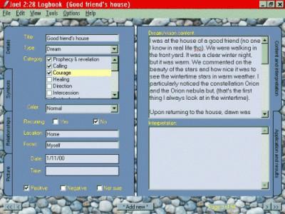 Joel 2:28 Dreams and Visions Logbook 1.51 screenshot