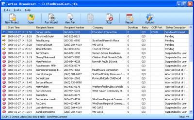 Joyfax Broadcast 8.50.0627 screenshot