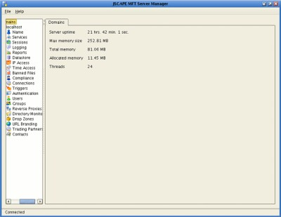 JSCAPE MFT Server 8.0 screenshot