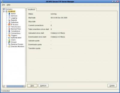 JSCAPE Secure FTP Server - Community Edition 3.3 screenshot
