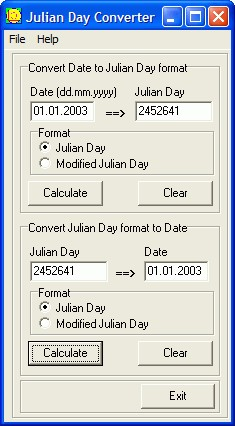 Julian Day Converter 1.0 screenshot