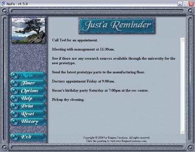 Just'a Reminder 1.5.6 screenshot