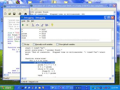 Just BASIC 1.01 screenshot