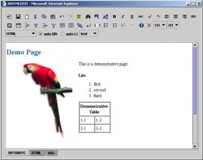 JXHTMLEDIT - WYSIWYG XHTML Editor 4.0.004 screenshot