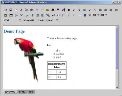 JXHTMLEDIT - WYSIWYG XHTML Editor 4.0.005 screenshot