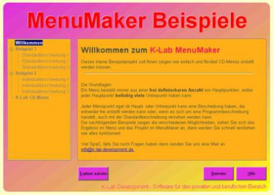 K-Lab MenuMaker 1.1 screenshot