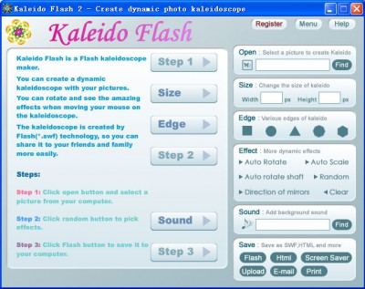 Kaleido Flash 2.3 screenshot