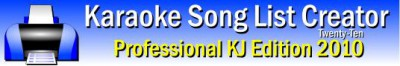 Karaoke Song List Creator Free Edition 2015 screenshot
