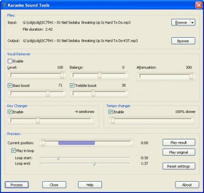 Karaoke Sound Tools 1.0.9 screenshot