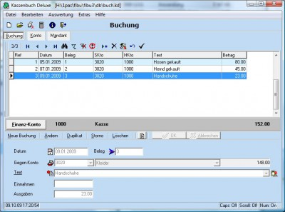 Kassenbuch Deluxe 4.2.1 screenshot