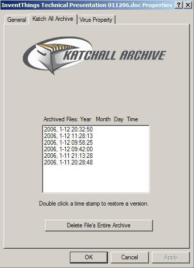 Katchall Archive 2.2.0.4 screenshot
