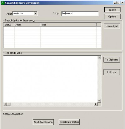 Kazaa LimeWire Companion 6.20 screenshot