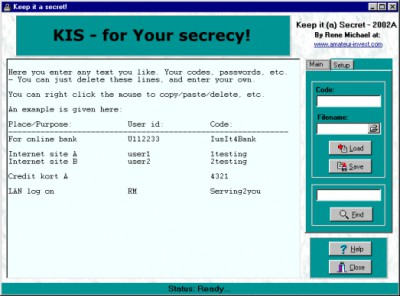 Keep It (a) Secret! 2002B screenshot