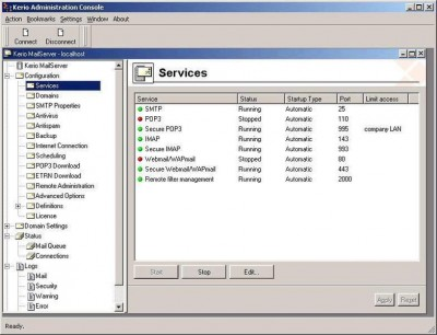 Kerio MailServer 6.2.3 screenshot