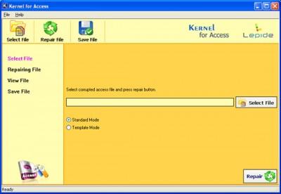 Kernel Access - Corrupt Database Repair 11.02.01 screenshot