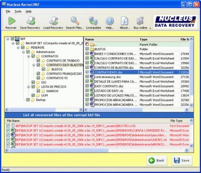 Kernel BKF - Corrupt Backup File Repair 4.02 screenshot
