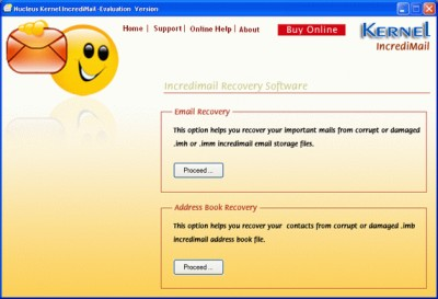Kernel IncrediMail Recovery Software 4.02 screenshot