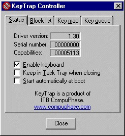 KeyTrap 1.2.2 screenshot