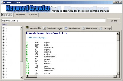 Keyword Crawler 1.1 screenshot