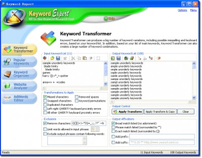 Keyword Expert 3.52.807.3 screenshot