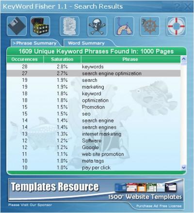 Keyword Fisher 2.2.0 screenshot