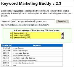 Keyword Marketing Buddy 2.3 screenshot